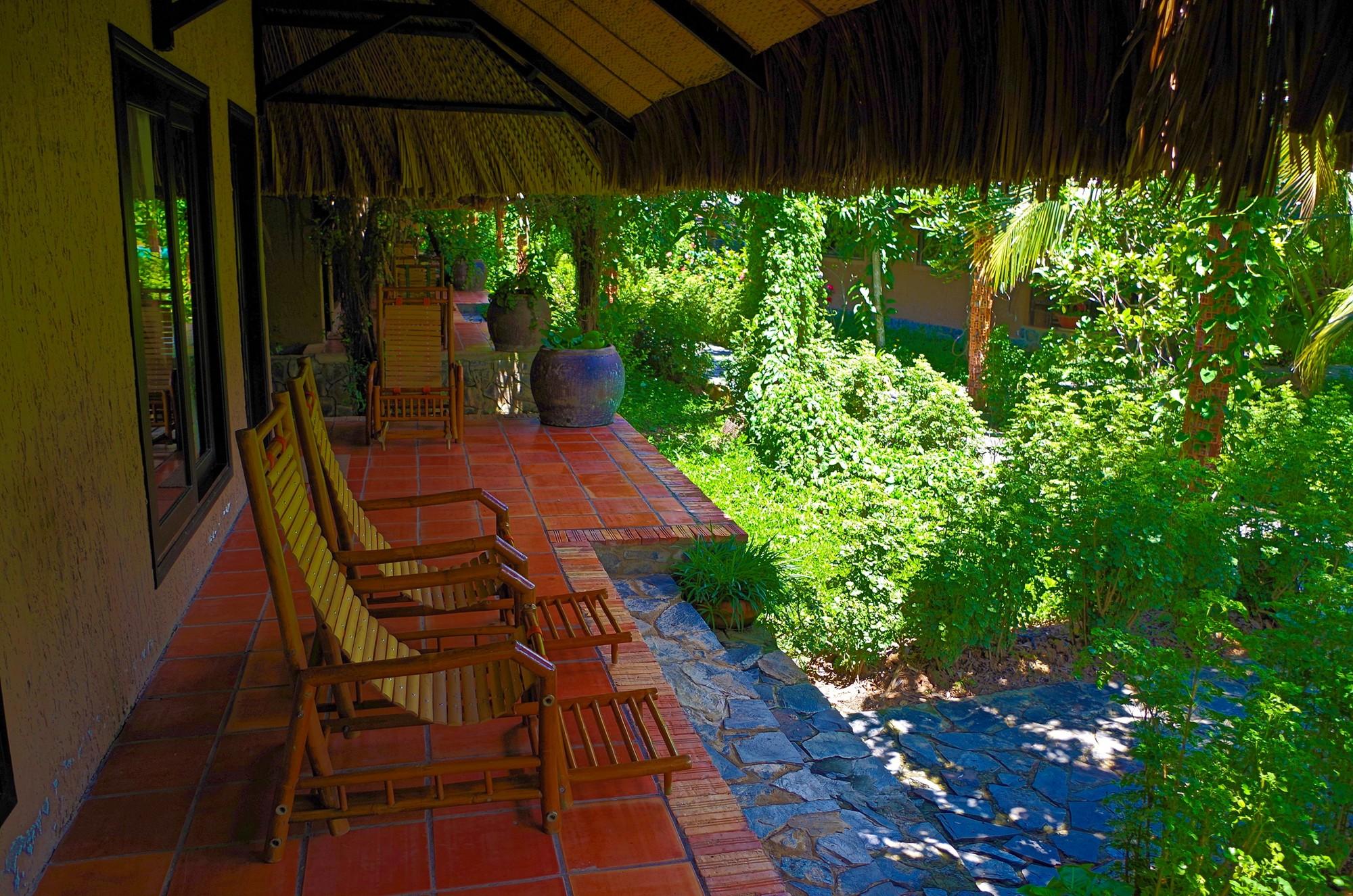 Terrasse chambre Mekon Lodge
