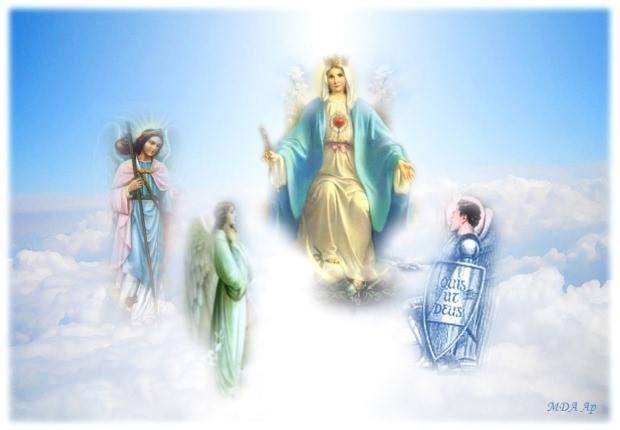 heilige MARIA mit Erzengel Michael, Raphael und Gabriel