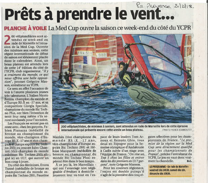 Article sur la Medcup 2018 Jules Chantrel