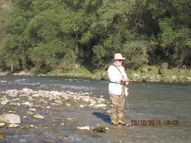 Günter beim fischen