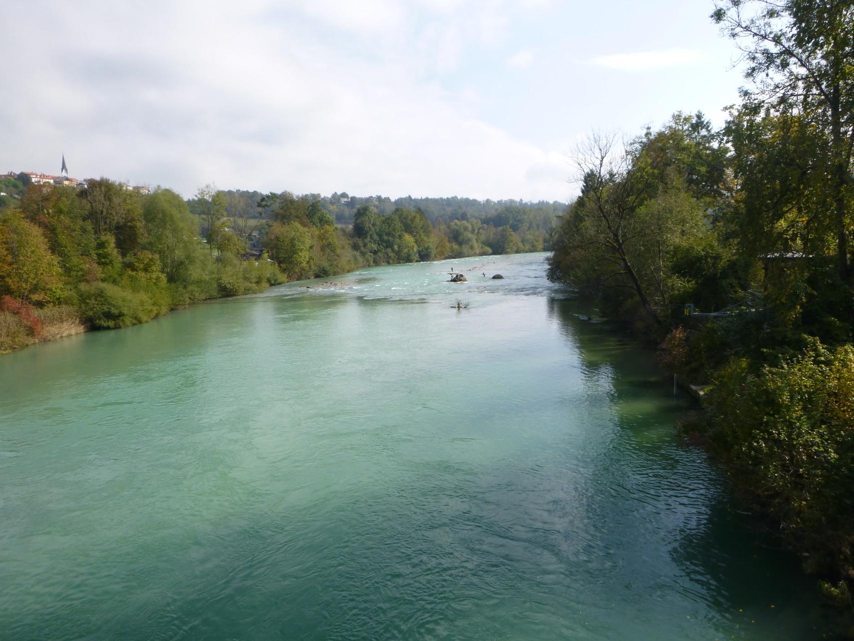Blick von der Sava-Brücke flußabwärts