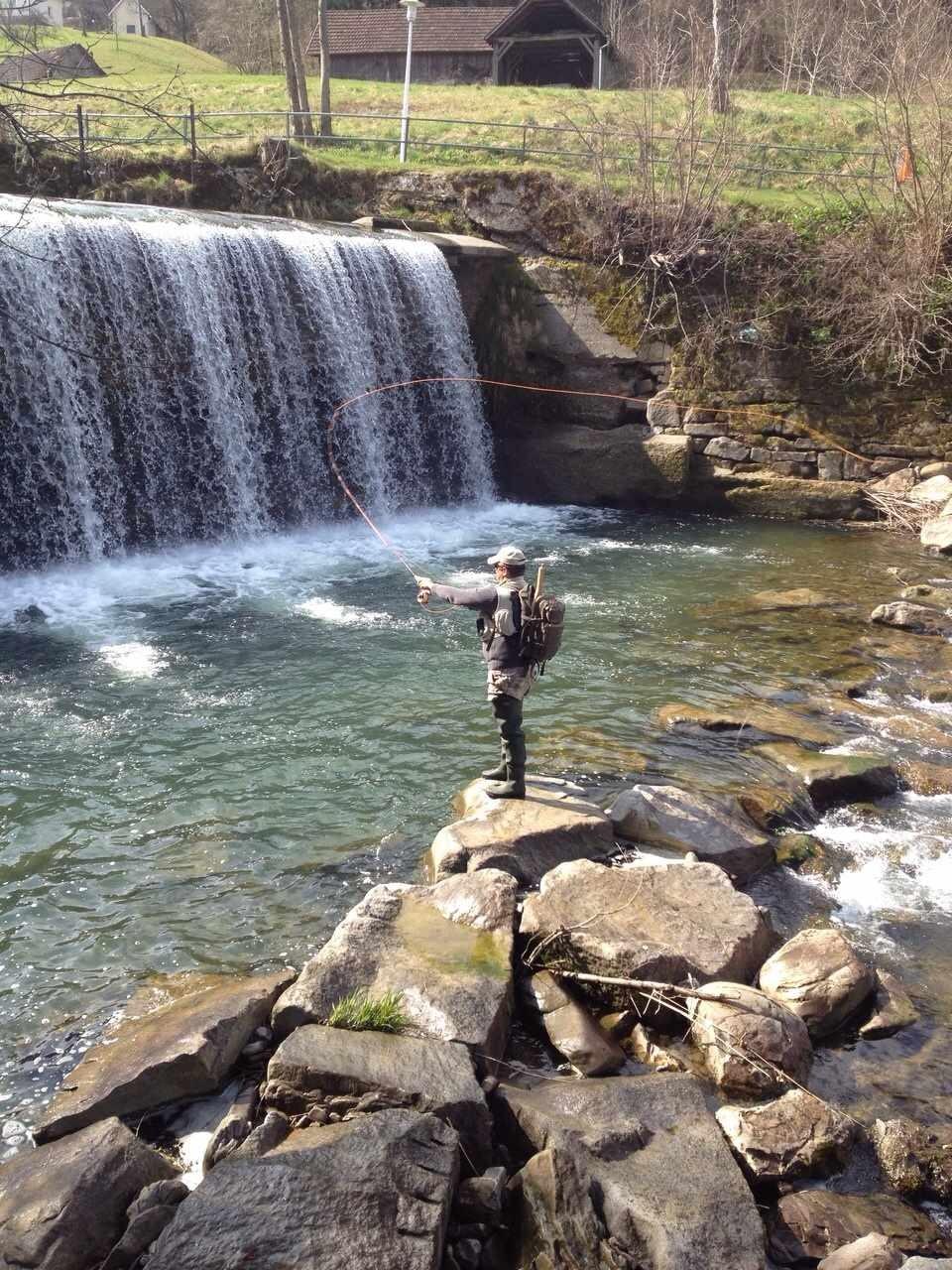 Jürgen am Wasserfall