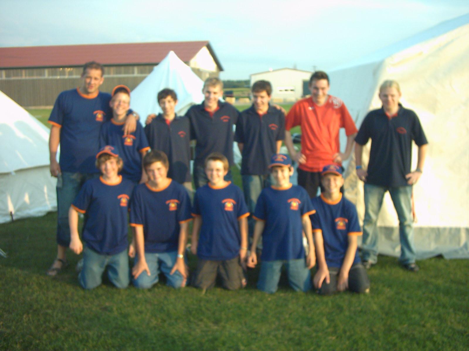 Das erste Jugendzeltlager im Jahr 2007