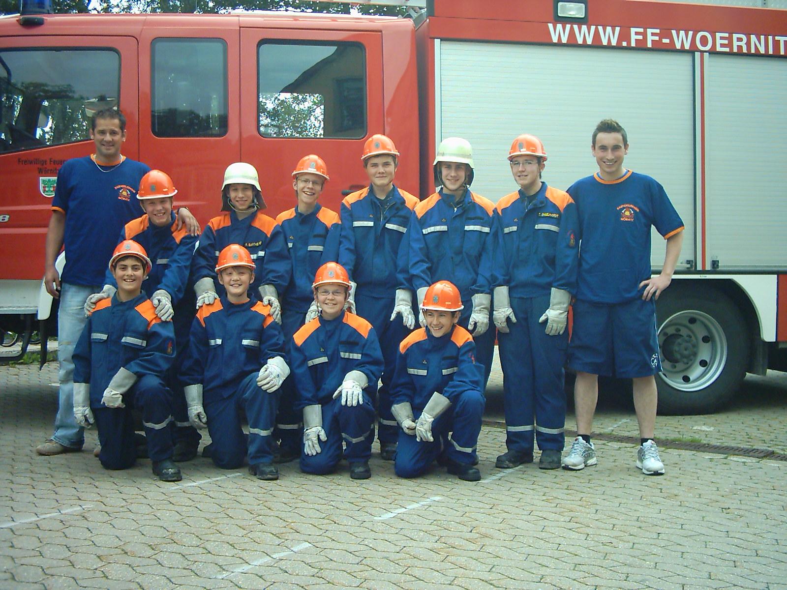 Die Jugendfeuerwehr im Jahr 2007