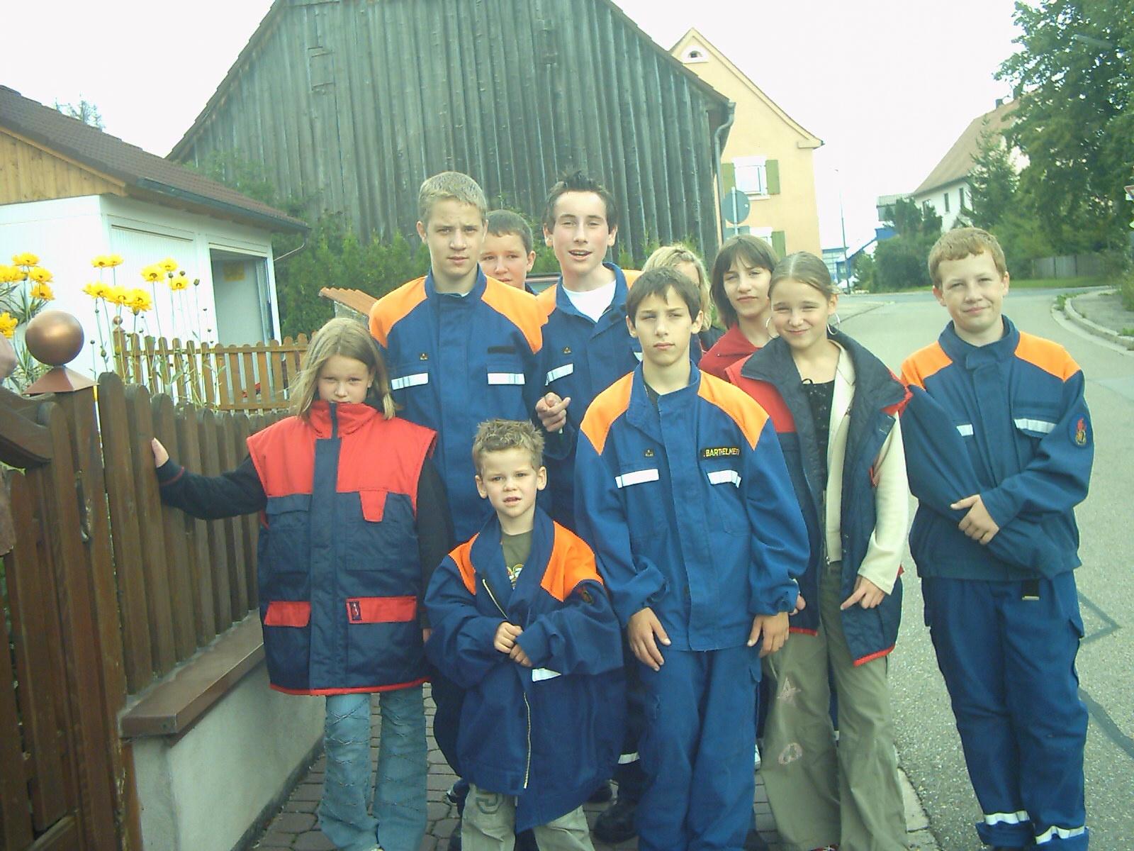 Die Jugendfeuerwehr im Jahr 2001