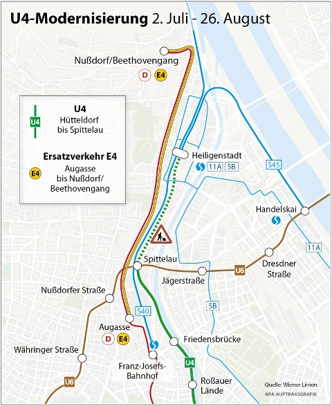地下鉄4号線(U4)Heiligenstadt...