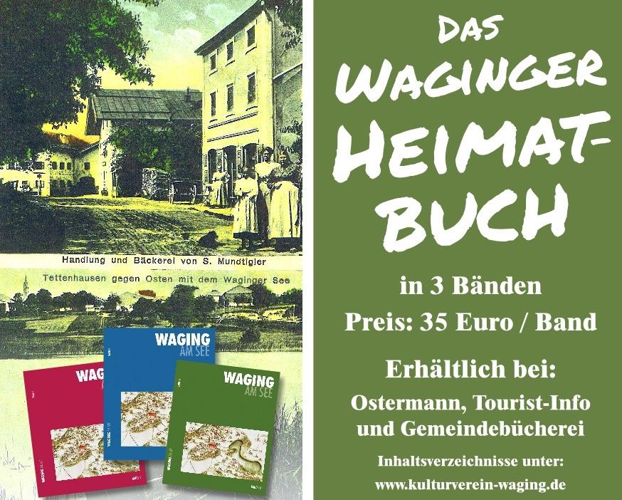 Werbung für die Waginger Heimatbücher