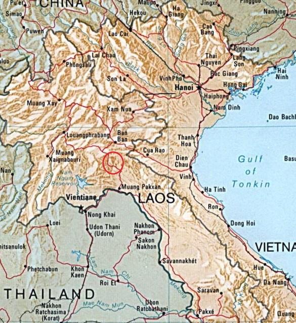 LONG CHENG ou LONG TIENG. Situé dans le cercle rouge. base secrète où vivait en autarcie l'Armée secrète