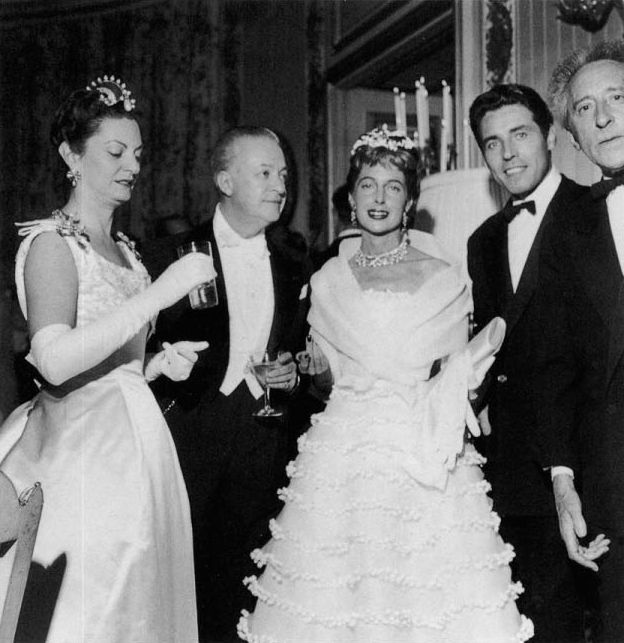 Patricia et Arturo LOPEZ WILLSHAW, Francine WEISWEILLER, Edouard DERMIT et Jean COCTEAU