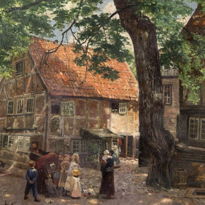 LE COLPORTEUR MAGICIEN par  Gustav WENTZEL (1859 + 1927)   .  1896 à DANTZIG