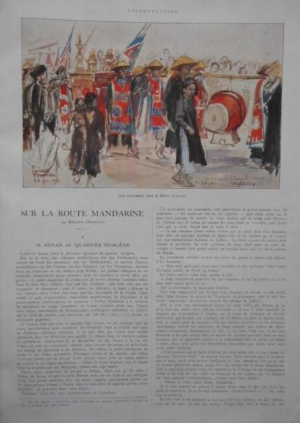 SUR LA ROUTE MANDARINE. ILLUSTRATION 1925