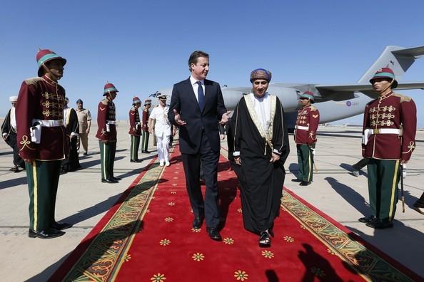21 Decembre 2012. Son Altesse le Prince FAHAD accueille DAVID CAMERON, Premier Ministre de Grande Bretagne.
