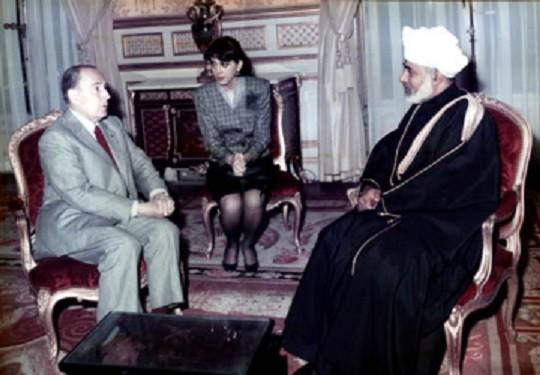 30 Mai 1989. Visite de Sa Majesté à l'Elysée.