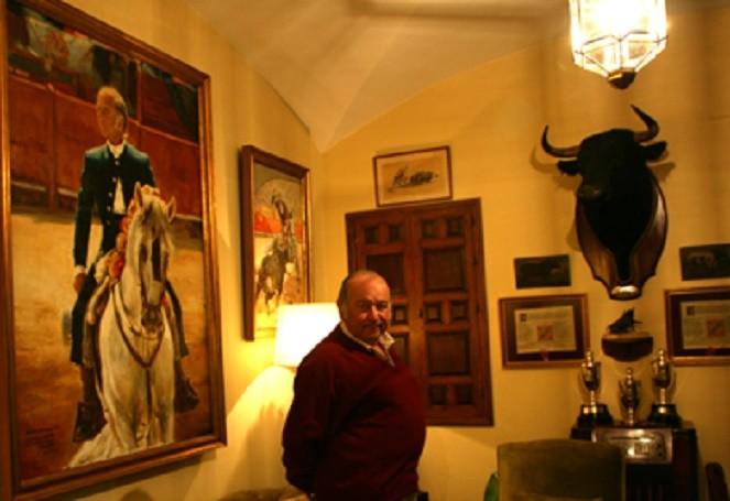 TORRESTRELLA. DON ALVARO DOMECQ ROMERO (né le 8 AVRIL 1940) SEUL FILS SURVIVANT AVEC SA SOEUR FABIOLA, DES 19 ENFANTS DE DON ALVARO DOMECQ Y DIEZ.