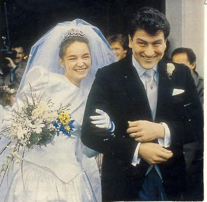 PRINCESSE MARGARETE ET ARCHIDUC JOSEF KARL D'AUTRICHE. 28 FEVRIER 1991