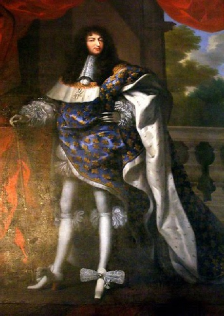 LOUIS XIV EN COSTUME ROYAL (1638 + 1715), FILS DE LOUIS XIII  par  Jean NOCRET