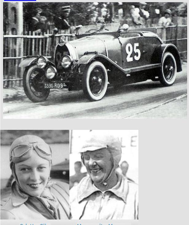 21 et 22 Juin 1930 EQUIPAGE FEMININ Marguerite MAREUSE et Odette SIKo. BUGATTI Type 40 1,5L sans compresseur N° 25; Arrivées 7e : 132 tours, 2.164,70 km - 90,196km/h