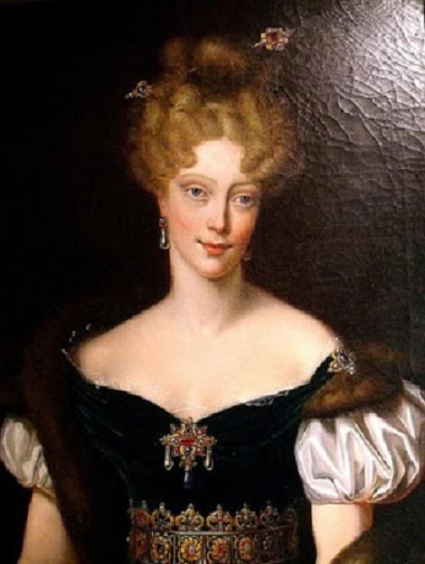 MARIE-CAROLINE DE BOURBON-SICILES (1798 + 1870), DUCHESSE DE BERRY, MERE DE HENRI V D'ARTOIS- COMTE DE CHAMBORD et DE LOUISE D'ARTOIS DUCHESSE DE PARME. D'après Drahonnet