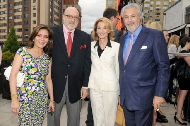 Valery et Jeffrey Paley, Amanda Mortimer Burden et Bill Paley Jr.