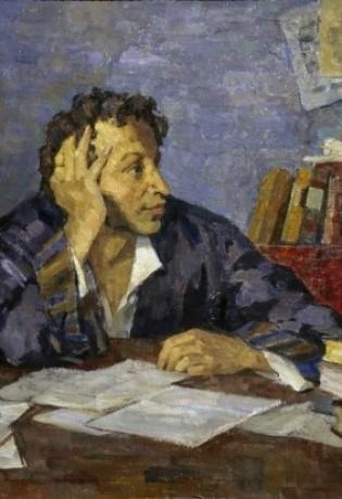 POUCHKINE par NikolaI Pavlovitch OULIANOV 1875-1946 (1936)