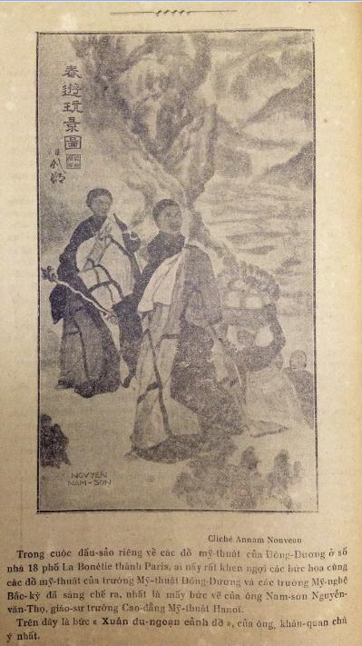 """CIRCA 1931. NAM SON : """" LE PELERINAGE : quand vint l'aurore, le meilleur des hommes était un Bouddha """". COLLECTION LIEUTENANT-COLONEL LANNEGRÂCE. C* INEDIT NGO KIM-KHOI"""
