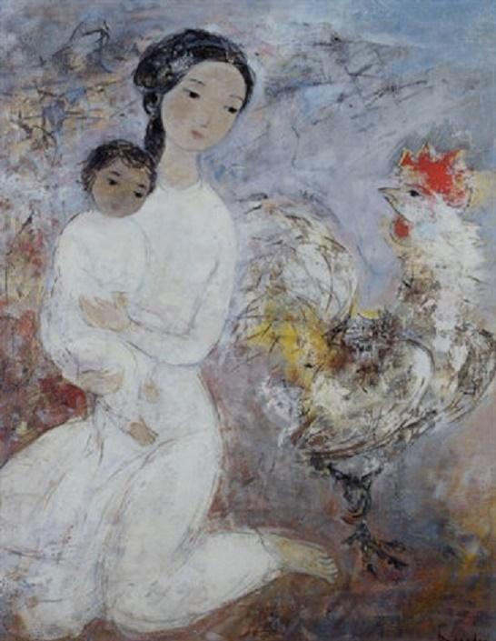 MATERNITE AU COQ. VU CAO DAM (1908 - 2000)