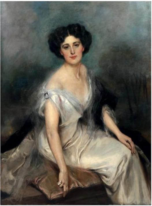 Ctesse de MARENCHES (1881+1968) 1912 par  François FLAMENG (1856 +1923). Née Margaret Clark de L'ESTRADE,  famille huguenote installée aux Etats-Unis (révocation de l'Edit de Nantes) la Ctesse était aussi la mère de Me MONAHAN (1906+2005), aîné d'Alex.
