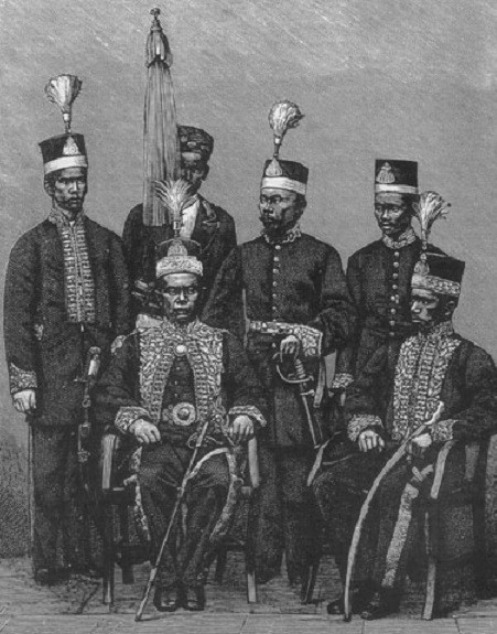 1881. SULTAN ALI MUHAMMAD SULAIMAN (1845-1899) ET SA COTERIE.
