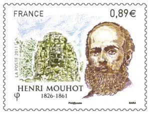 Henri Mouhot, naturaliste, explorateur, mort en 1861 après avoir découvert Luang Prabang. Ses compagnons indigènes l'ont inhumé à Ban Phanom