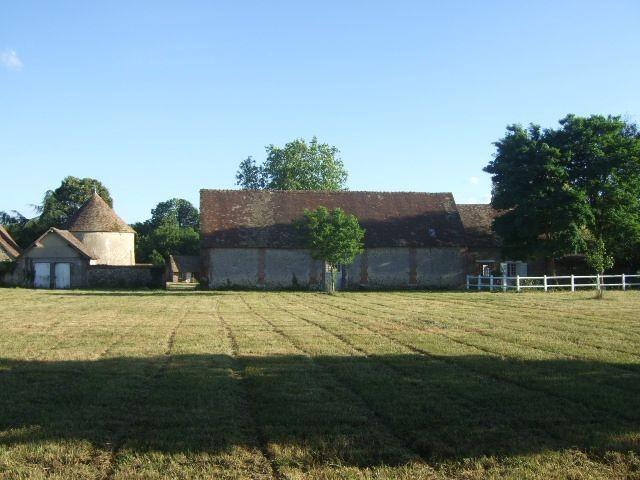 Vue du château de Boussey, côté prairie