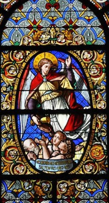 """VITRAIL """"LA RESURRECTION"""" .  Cathédrale Saint Louis"""