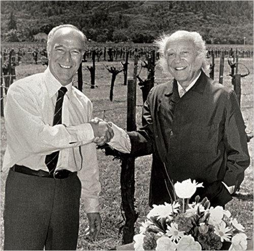 1979. ROBERT MONDAVI et PHILIPPE DE ROTHSCHILD.