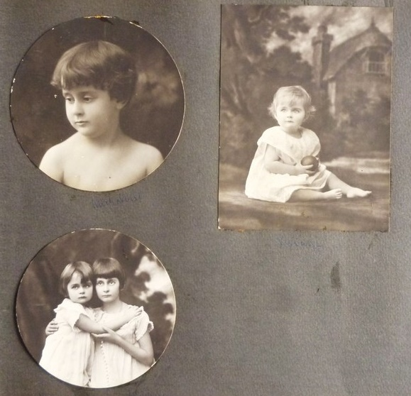 LES ENFANTS DU FRERE AÎNE, EMILE  DUBONNET 1883+1950 : MICHELINE et VIVIANE