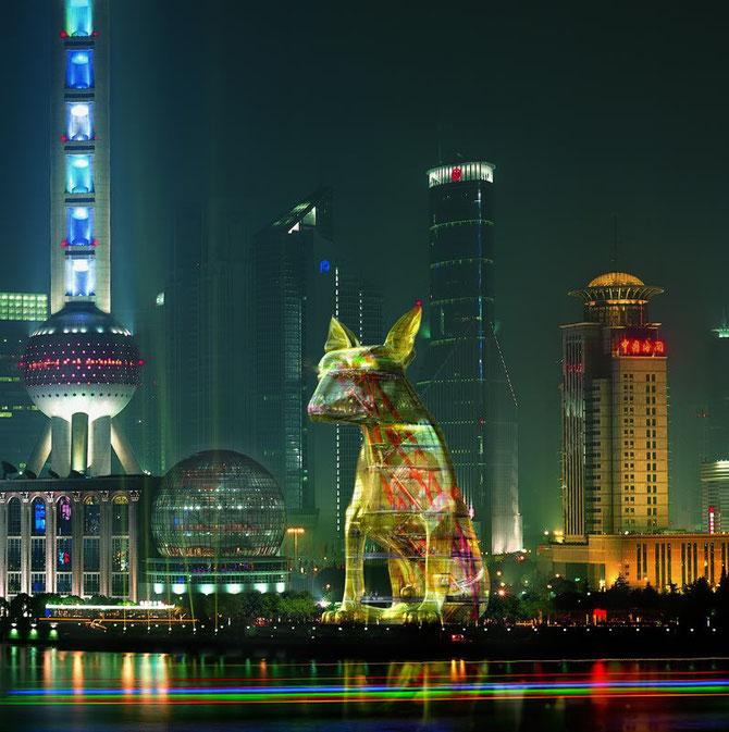 2006. SHANGHAI MON RÊVE NON ACCOMPLI - THE YELLOW LOST DOG - LE SEUL QUE JE N'AI PU VOIR SE REALISER  DANS MA VILLE DE PREDILECTION.