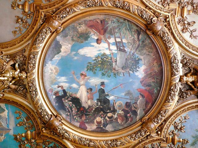 LA BATAILLE DES FLEURS NICE DE HENRI GERVEX (10 Sept. 1852 Montmartre - 6 Juin 1929 Paris). Peintre et Pastelliste.