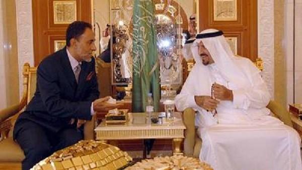 Août 2011. Son Altesse le Prince Amiral SHIHAB et Son Altesse Royale le Prince héritier d'Arabie (décédé en Octobre 2011)