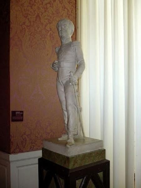 BUSTE DU DUC DE BORDEAUX, FUTUR COMTE DE CHAMBORD . Copie du marbre exposé au salon de 1827, par Dominique MOLCHNECHT (1793 + 1876)