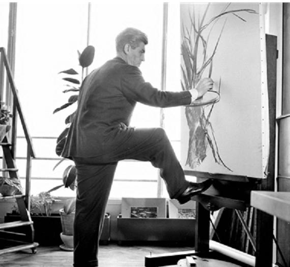 Georges W. dans son atelier 1957