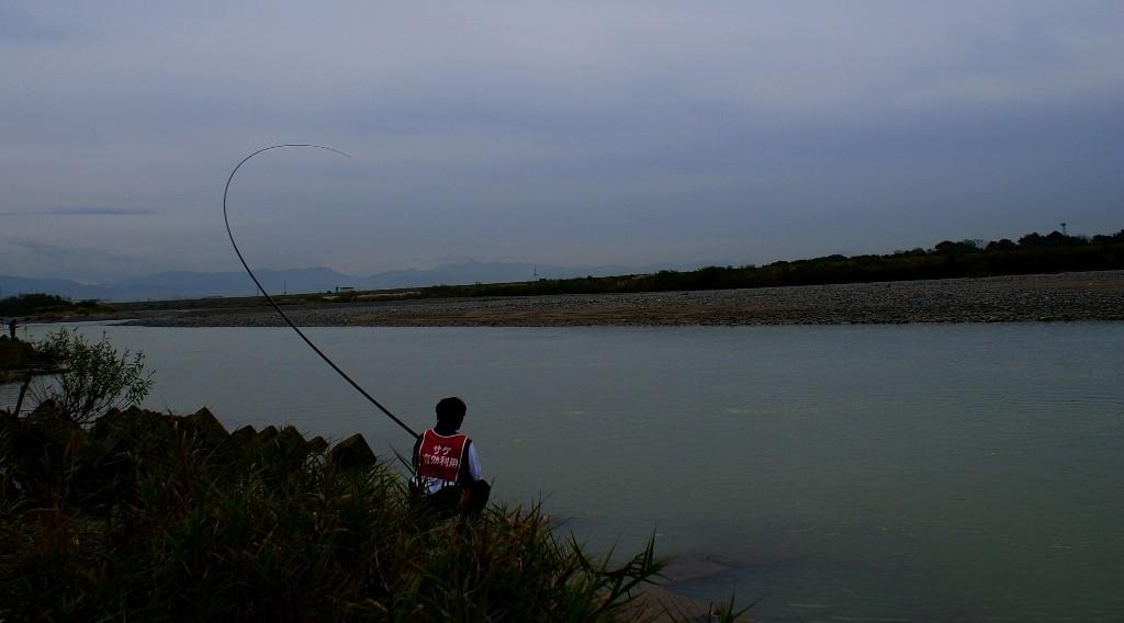 RUDOW8500でのサケ釣り
