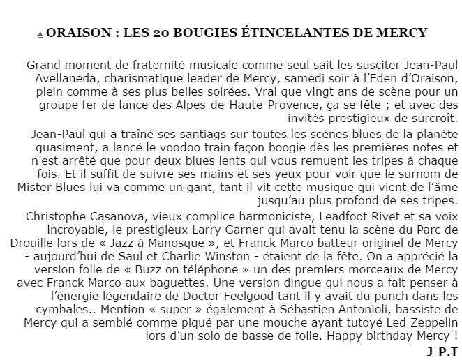 Article de Jean-Pierre Tissier - Provenceinfos.fr