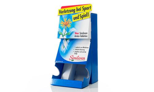 POS Produkte aus Wellpappe: Shelf Ready Packaging (SRP), Thekendisplays, Bodendisplays, Palettendisplays, Versandkartons, Offsetkaschierungen, Bag in Box - von RATTPACK® - Aufsteller