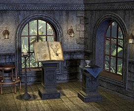 Raum mit Büchern - Buchverlag