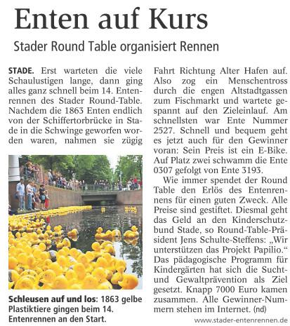 Entenrennen 2014 mit freundlicher Genehmigung Stader Tageblatt