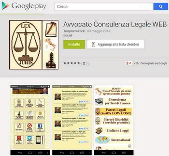 App avvocato consulenza legale google play store