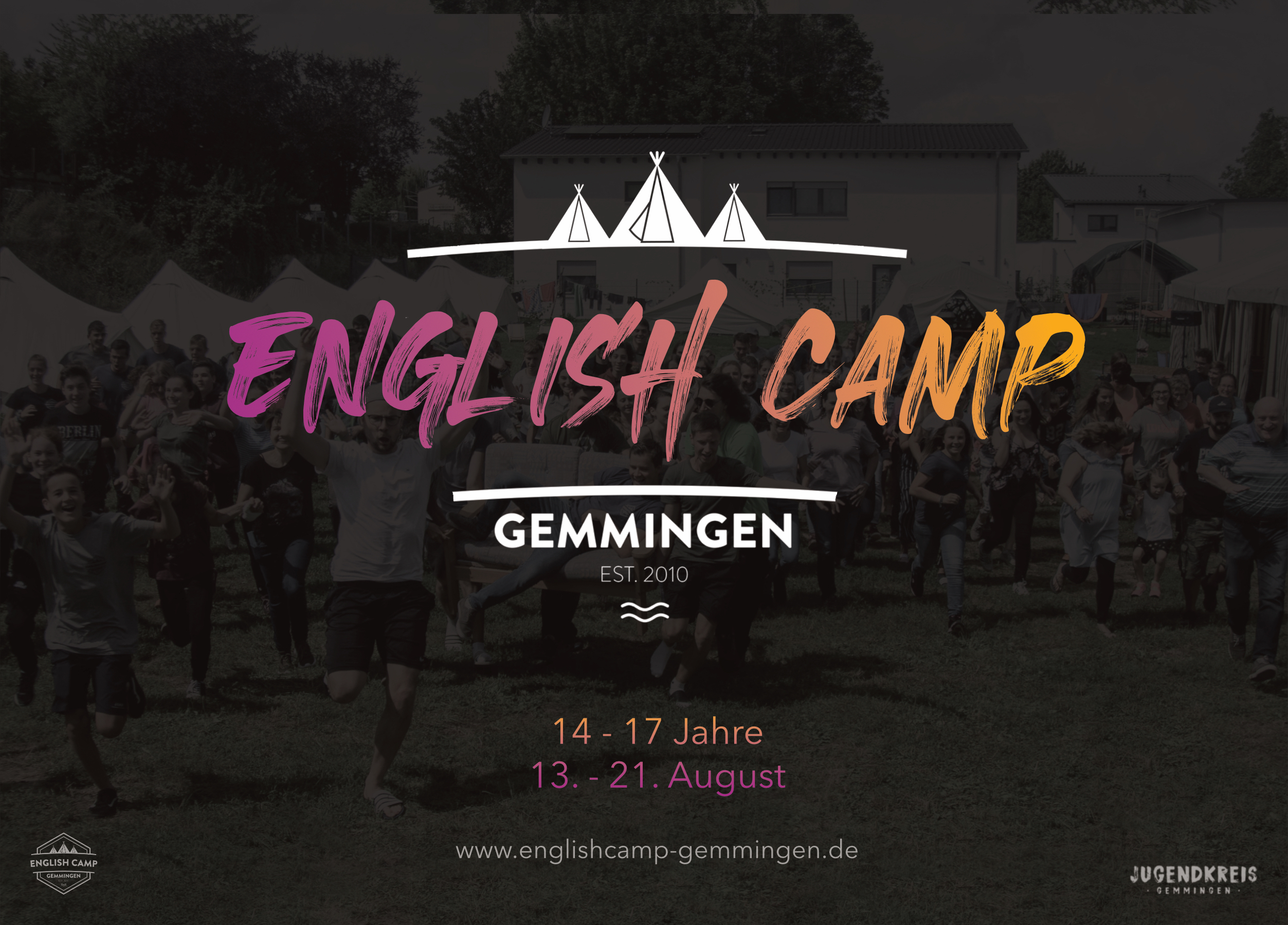 Anmeldung Flyer English Camp 2019