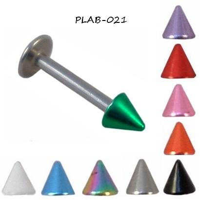 Piercing labret pointe anodisée 10 couleurs