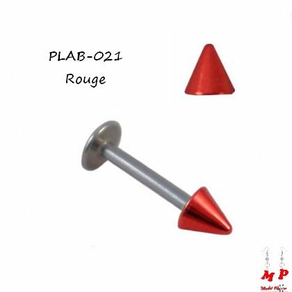 Piercing labret Spike acrylique anodisé rouge