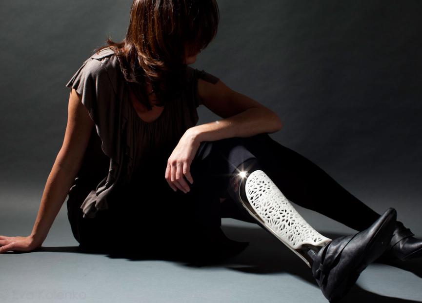 アメリカ ベスポーク社の義足カバー ヒューマニックが日本の代理店です