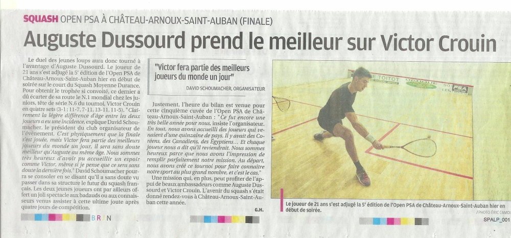 La finale du PSA Château Arnoux annoncée dans la Provence ! 😀