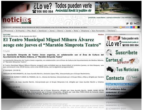 CARTEL DEL II MARATÓN SIMPROTA DE TEATRO